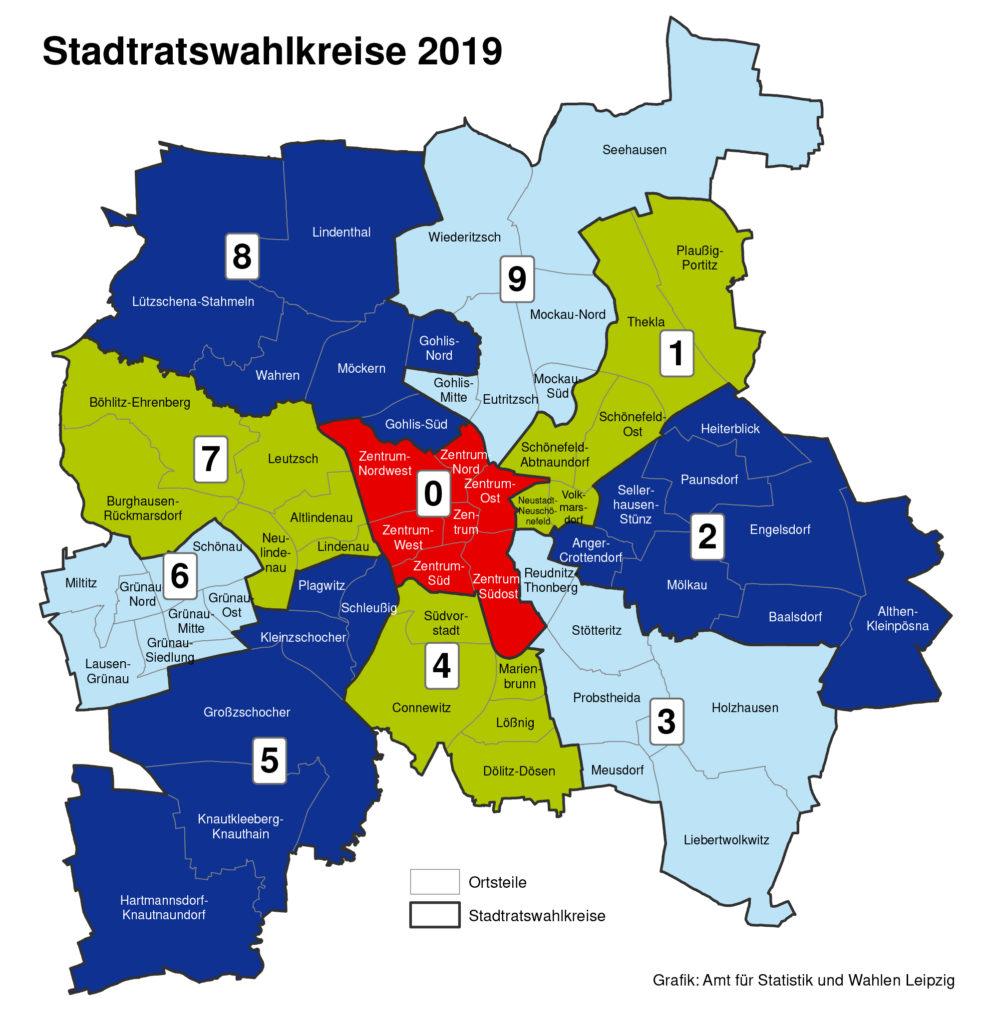 Wahlkreise in Leipzig